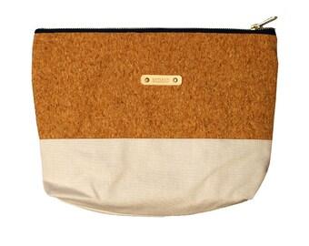 Large white pouch & Cork