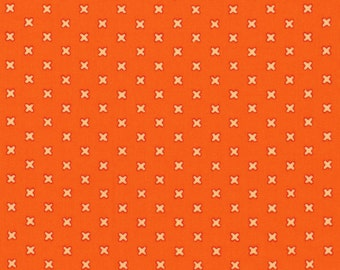 Cross Stitches - Orange by Lecien (31196-40) Cotton Fabric Yardage