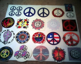 Peace Sign Stickers Decals