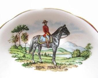 Souvenir; Canadian Souvenir Bowl, Royal Mounted Police Souvenir Bowl