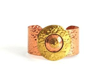 Vintage Brass and Copper Cuff Bracelet