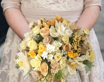 SILK two piece WEDDING FLOWERS bouquet