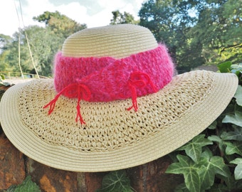 Womens red hat band Ladies red hat band Red straw hat band Red summer hat band Ladies red hat Womens red hat Ladies red hats Red band (230)