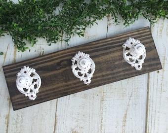 Wood Rack/Coat Rack/Wall Board/Hook Board/Wall Decor/Rustic/Towel Hook/Entry Way/Farmhouse/Wood Hook Board/Hat Rack/Bathroom Hooks/Nursery/