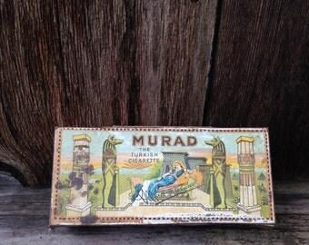 Vintage Egyptian Cigarette Murad Turkish Cigarette Tin Anargyros