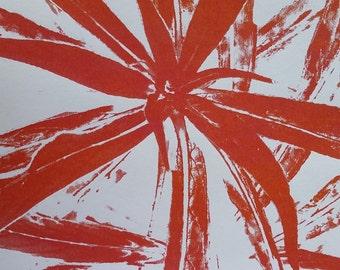 Star print, abstract print, screen print, artprint, A2 print