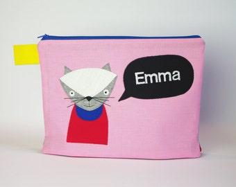 """Diaper bag/cosmetic bag """"Balloon cat"""""""