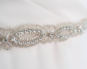 Swarovski wedding belt, Swarovski bridal sash,