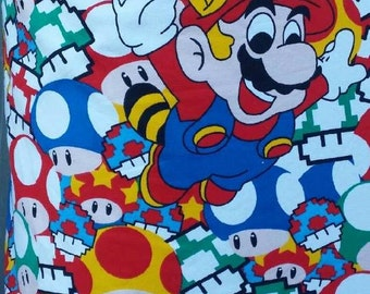 Super Mario French Terry fabric