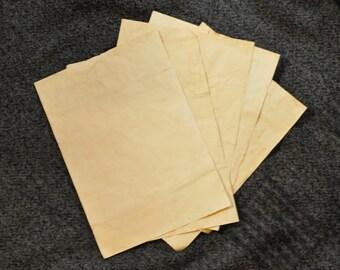 A4 Aged/Antique effect plain paper. 5 Sheets