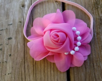Hair Accessory, Girls Accessory, Baby Headband, Flower Headband, Spring Flower, Valentines Day, Baby Headband,Photo Prop, Flower Photo Prop