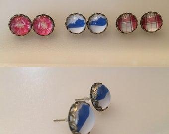 Custom image earrings