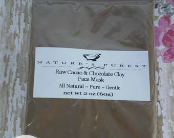 Face Mask - Chocolate Face Mask - Natural Face Mask -  Handmade Skin Care