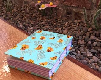 Handmade exposed stitch hardcover sketchbook   notebook