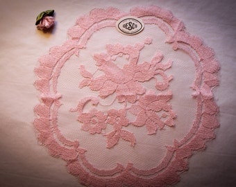 Desco True Vintage  Pink  Chapel Veil  Mantilla Veil Made in France
