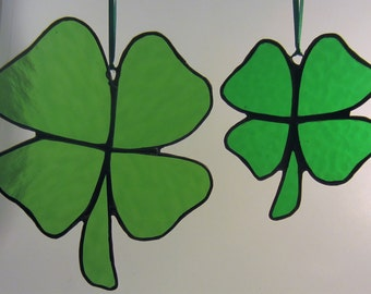 Shamrock, Luck of the Irish Stained Glass Suncatcher