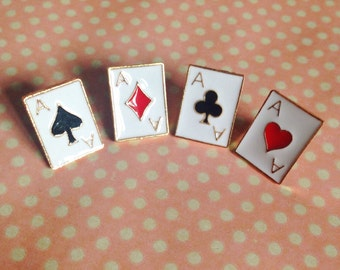 Cute Playing card pin