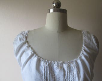 Edwardian/Victorian Camisole/Corset Cover/Lingerie/Cotton/Lace/Pintucks XS to XXS #17026