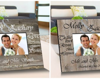 Tying the Knot Wooden Picture Frame