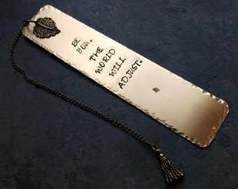 Brass Stamped Metal Bookmark Be You