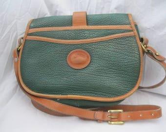 Green Leather Dooney & Bourke Crossbody