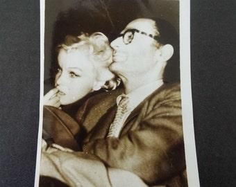 Rare Vintage 1959 Candid Photograph Marilyn Monroe & Arthur Miller Unpublished Original Photograph