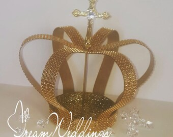 Gold crown centerpiece etsy for Wholesale quinceanera craft supplies