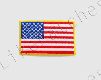 American Flag - Flag of America U.S.A United State Of America New Sew / Iron On Patch Embroidered Applique Size 8cm.x4.9cm.