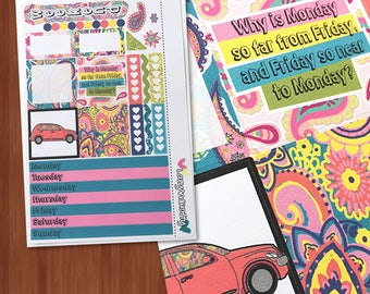 Paisley mini kit - Weekly Mini Kit- Planner stickers for the Mini Happy Planner, personal planners