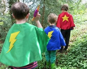 Super Hero Lightening Bolt Cape, Children's