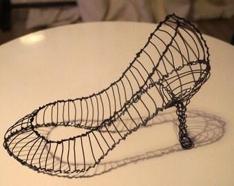 Stiletto heeled shoe sculpture