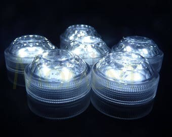 10 x Submersible Waterproof TRIPLE LED Tea Light for Weddings & Centrepieces