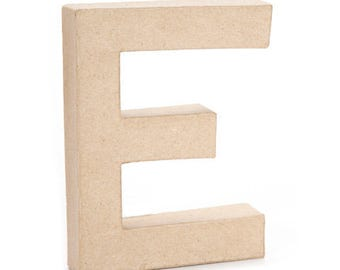 Paper Mache Letter -E- 6 inches,Cardboard Letter,Craft Project,Embellishment letter