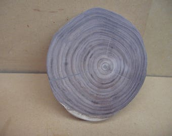 Black walnut cut on an angle for card stands or many other things.