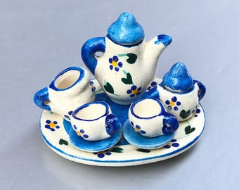 Miniature Tea Set,Miniature English Tea Set,Miniature Coffee Set,Miniatue Chinese Tea set,Dollhouse tea set,Dollhouse coffee set