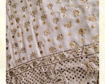 Pure georgette Mukaish  work suits