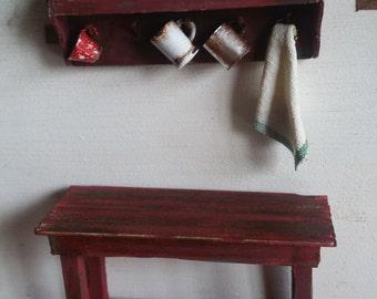 Set of furniture in miniature