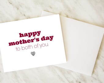 Lesbian Mother's Day / Mother's Day Card / Two Moms Card