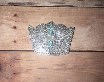Set of 4 Tiara Felties Crown Crowns Tiaras Glitter Feltie Felt Embellishment Bow Cinderella Cindy Princess Planner Clip Magic Felties