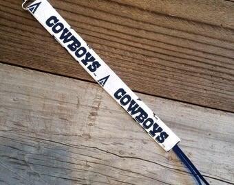 Dallas Cowboys pacifier clip, Cowboys binky clip, Cowboys soothie clip, Cowboys paci clip