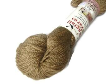 Mohair and merino wool DK yarn, 218 yards,color Brass, destash, sale yarn