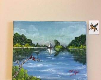"Sailboat Painting ""Sail away with me"""