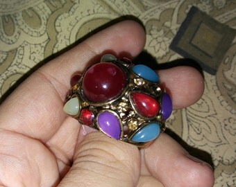 Vintage stretch band ring size 8+