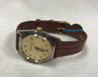 Vintage Original Caravelle Stainless Water Resistant Mechanical Wrist Watch