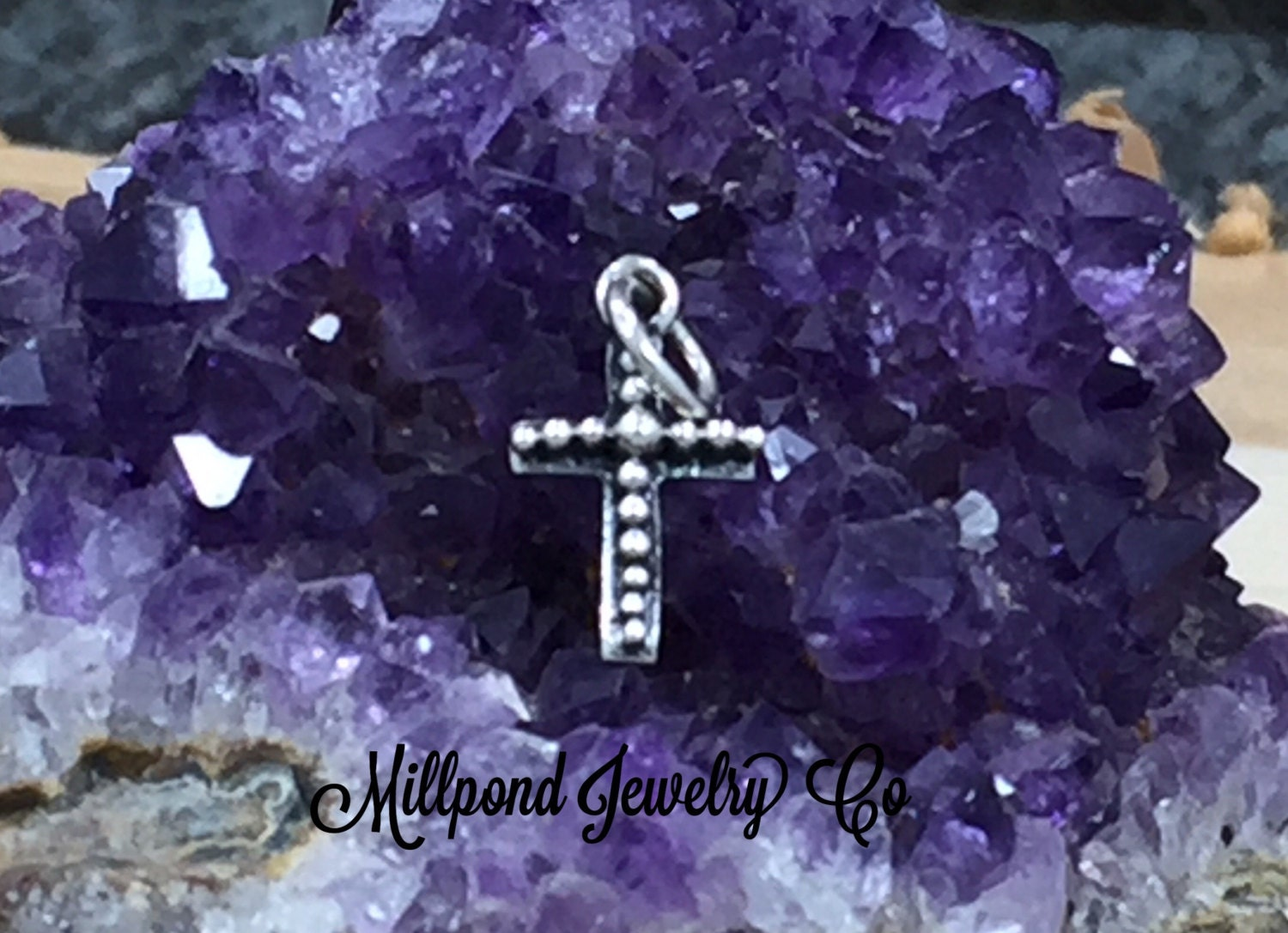 Silver Cross Cross Charm Pendant With