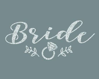 Bride Leaves of Love Iron On Decal