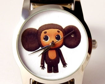 25% OFF ON SALE Cheburashka watch, unisex watch, women watch, men wrist watch