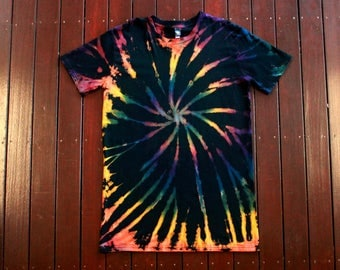 Hand Dyed Reverse Tie Dye Tall Tee