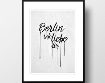 """Artprint """"Berlin ick liebe dir"""""""