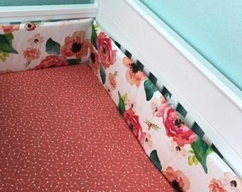 Crib Bumper - Floral Dreams